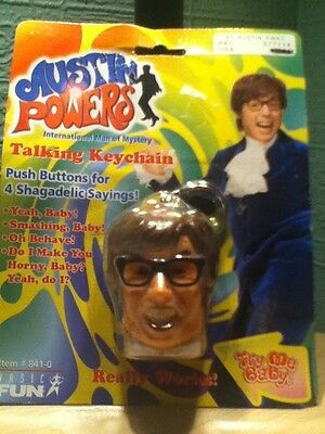 Austin Powers International Man of Mystery Talking Keychain Push Buttons 4 Shaga