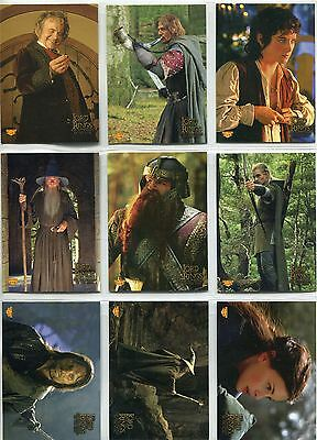 Lord Of The Rings FotR Complete Puzzle Sticker Chase Card Set 1-10