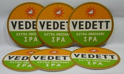 VEDETT extra ordinary IPA bière 6 sous-bocks 10.5 cm  NEUF