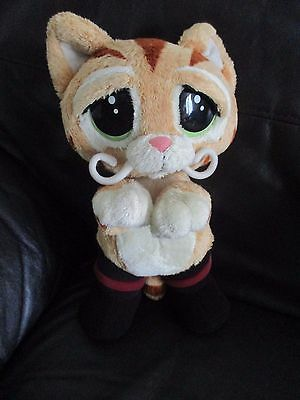 SHREK PUSS IN BOOTS talking room guard with moving mouth VGC sad eyes RARE PLUSH