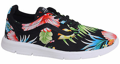 60e0e08f22 Vans Iso 1.5 Lace Up Mens Black Floral Patterned Trainers XB8HEY Vans A