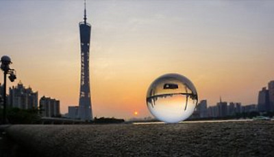 1X 80mm Clear Crystal Sphere Ball Good Quality