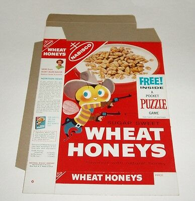 1950's Nabisco Wheat Honeys Cereal Box w Puzzle premium offer