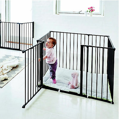 New Babydan Black Metal Square Babyden / Park-A-Kid Playpen & Urban Playmat