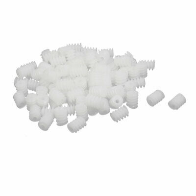 100PCS 6mm Thread Dia 8mm length Plastic Worm Gear for Toy Motor Reduction Box