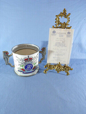 Paragon Queen Elizabeth Ii Silver Wedding 1972 Ltd Ed Large Loving Cup & Cert