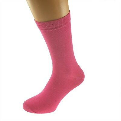 Plain Hot Pink Socks in Mens, Womens and Kids Sizes - X6S116