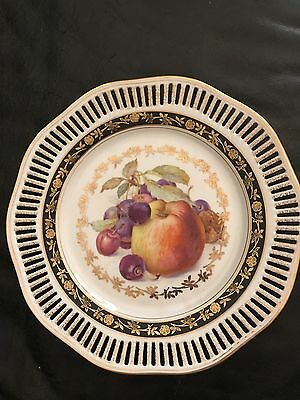 Winterling Bavaria Germany reticulated fruit decorated plate 9 3/4 Inch