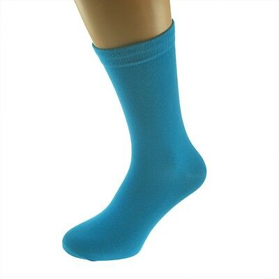 Plain Turquoise Socks in Mens, Womens and Kids Sizes - X6S076
