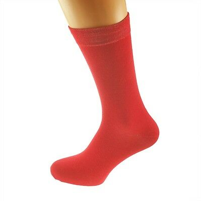 Plain Red Socks in Mens, Womens and Kids Sizes - X6S146