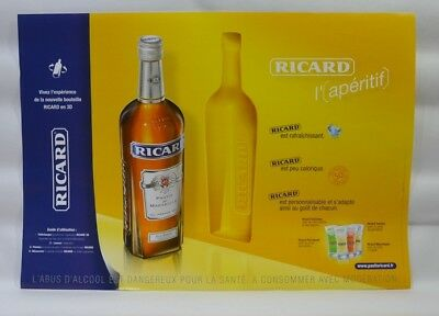 RICARD anis 6 sets de table papier 42x29 cm L'Apéritif NEUF --  PLIES