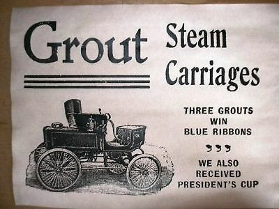 "(315) Vintage Reprint Advert Grout Steam Carriage Car 1902 11""x14"""