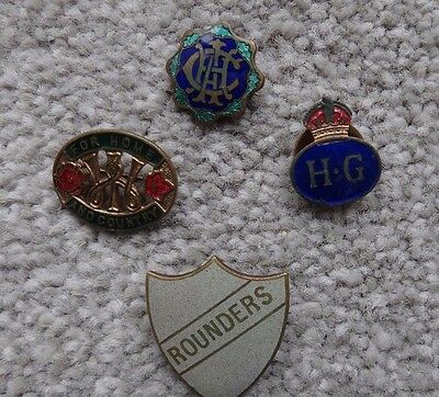 collection of enamel badges, home guard,WW2 Women's institute plus 2 others