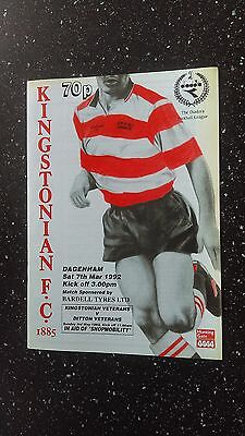 Kingstonian V Dagenham 1991-92