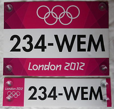Rare Set of 2 Genuine Pink London 2012 Olympic Venue Access Boards for Wembley