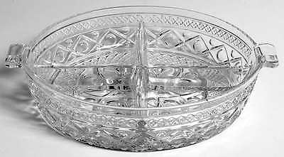 Imperial Glass Ohio CAPE COD CLEAR (#1602 & #160) 4 Part Relish Dish 236532