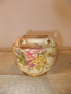 Royal Worcester Rare Hand Painted  Vase With Flowers