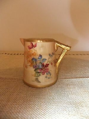 Royal Worcester Rare Hand Painted  Jug With Flowers