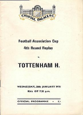 CRYSTAL PALACE v TOTTENHAM HOTSPUR (SPURS) 1969/70 FA CUP 4TH ROUND REPLAY -
