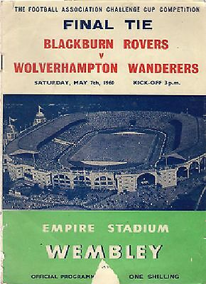 FA Cup Final, Blackburn Rovers v Wolves 1959-60 programme