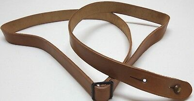 Vintage Natural tanned Leather Rifle Sling adjustable 58inLx15/16inw each E8825