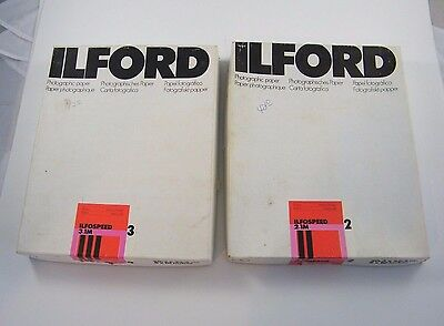 "Ilford Ilfospeed Photographic Paper 3.1M & 2.1M 8X10"" / 20,3 X 25,4 Cm Open Box"