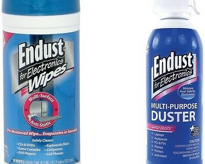 Endust NOZAS70KIT Electronics Duster & Anti-static Pop-up Wipes