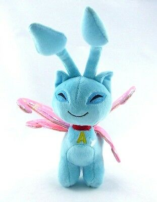 "PLUSH Neopets 6"" FAERIE AISHA Blue Pink Wings Fairy Cat Series 3 2008 Plushie"