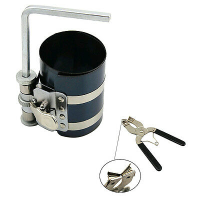 Tool Piston Ring Compressor with Installer Ratchet Plier Expander Engine New