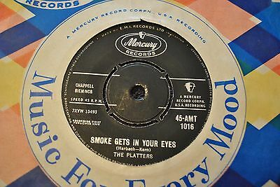 """The Platters,""""Smoke Gets In Your Eyes"""",1958 EX."""