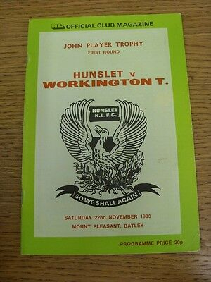 21/11/1982 Huyton v Workington Town [John Player Trophy] Rugby League Official P