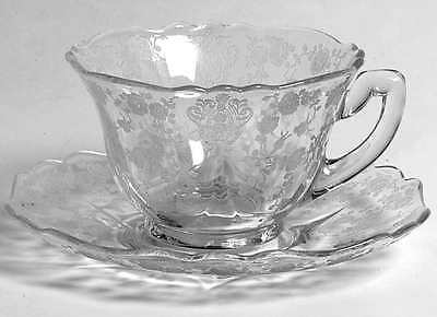 Cambridge ROSE POINT CLEAR Cup & Saucer Set 5434349