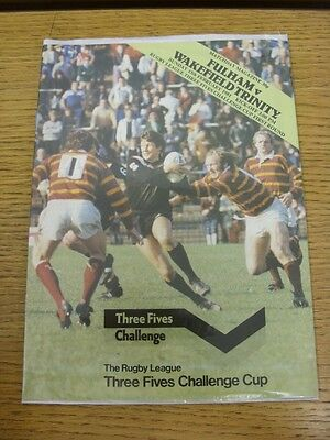 15/02/1981 Fulham v Wakefield Trinity [At Craven Cottage] Challenge Cup Rugby Le