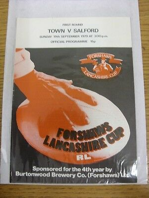 19/09/1979 Workington Town v Salford [Lancashire Cup] Rugby League Official Prog