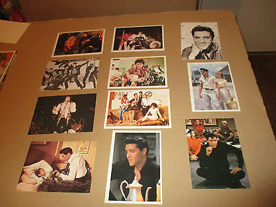 ELVIS PRESLEY LOT 11 DIFFERENT CPSM CPm postcard CHANT MUSIQUE singer v1990 TB