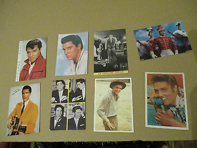 ELVIS PRESLEY LOT 8 DIFFERENT CPSM CPm postcard CHANT MUSIQUE singer v1980 TB