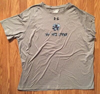 Notre Dame Football Team Issued/worn Under Armour Shirt 3xl