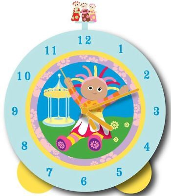 IN THE NIGHT GARDEN - Upsy Daisy 18cm Light & Sound Clock (Wesco) #NEW