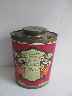 Vtg 1930's Holman's Special Rose Talcum Powder Paper Label GREAT GRAPHICS!