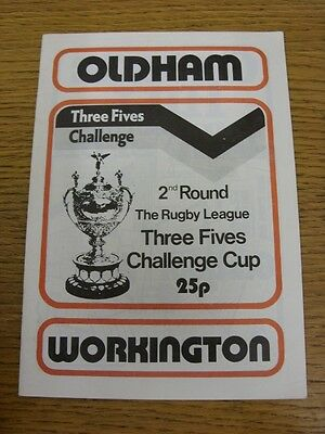 01/03/1981 Oldham v Workington Town [Challenge Cup] Rugby League Official Progra