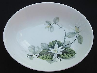 Peter TERRIS White Lily Shenango China Oval Serving Bowl  Mid-Century