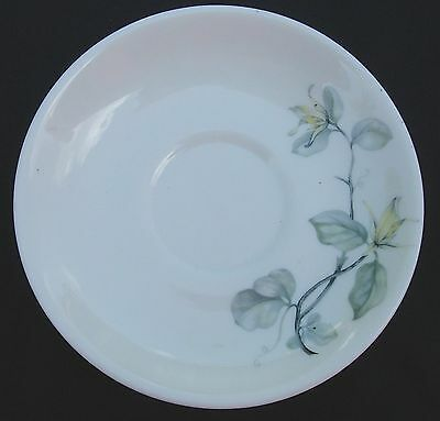 Peter TERRIS White Lily Shenango China Saucers Pair Mid-Century