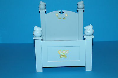 American Girl Angelina Ballerina Mouse Adorable Blue Wooden Bed