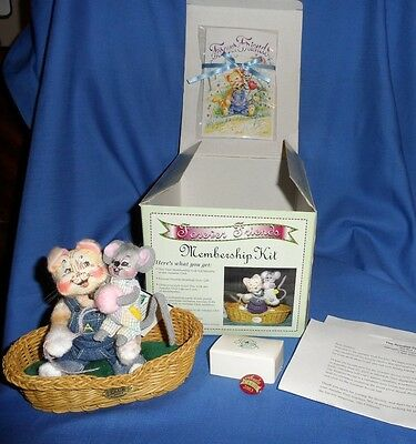 Annalee Forever Friends Doll Club   Membership Kit 2003 Doll Society Cat & Mouse