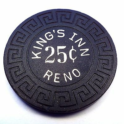 Vintage 1975 KING'S INN Casino 25c 25 Cent Chip Reno, NV Nevada