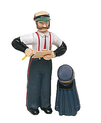 BACHMANN Posable Train Conductor Man & Coat G-Scale Figure #92313 Brand New