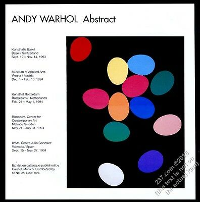 1992 Andy Warhol color egg painting Basel gallery show vintage print ad
