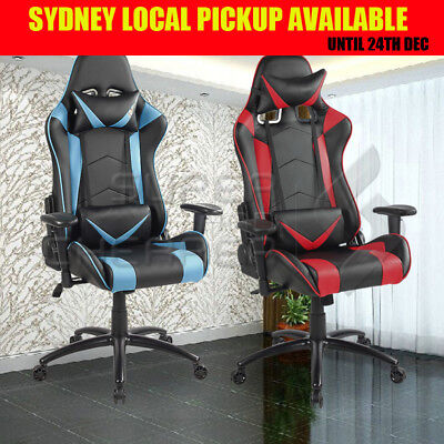 NEW Executive Gaming Work Office Chair Racing Computer PU Leather Mesh