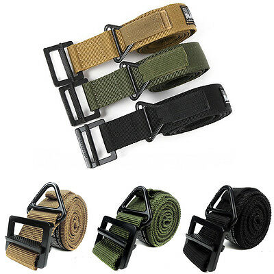 Adjustable Heavy Duty Military Army Tactical Belt Combat Emergency Rescue Rigger