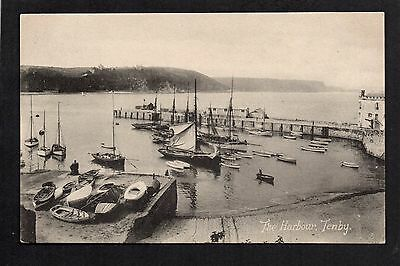Tenby - The Harbour - printed postcard